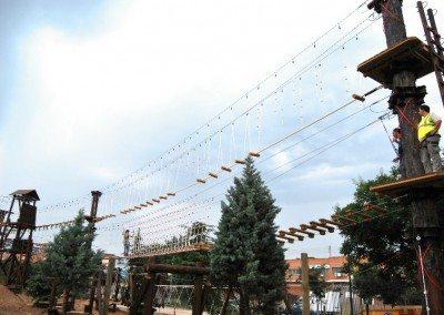 Multiaventura Tirolina Rocodromo Madrid Parque Europa empresas cumpleaños colegios ocio.